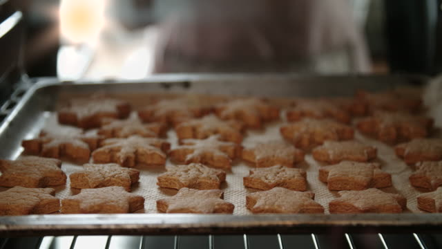 Baking Gingerbread Cookies in the Oven video
