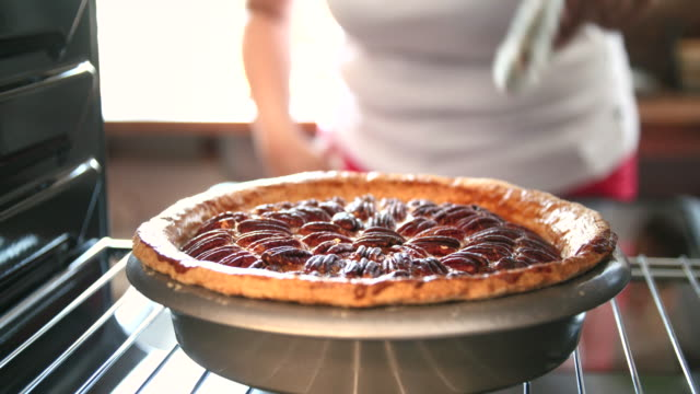 Baking Pecan Pie in The Oven for Holidays video