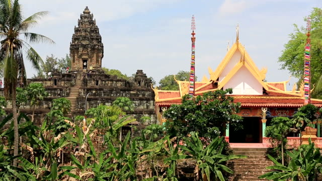 Bakong Temple In Siem Reap With Flowers, Cambodia video