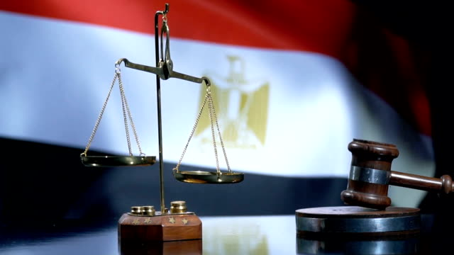 Balance and Gavel with Egyptian Flag Full HD, 29.97P, Slow Motion legal trial stock videos & royalty-free footage