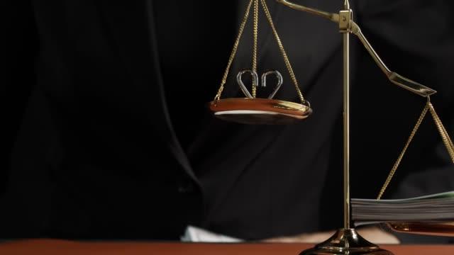 balance scale vända obalans, rättvisa hjärta inte stark - dirty money bildbanksvideor och videomaterial från bakom kulisserna