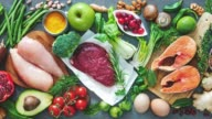 istock Balanced diet food background 1222819899
