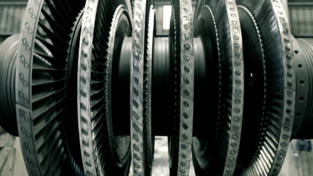 balancing steam turbine frontal spinning steam turbine at workshop power stock videos & royalty-free footage