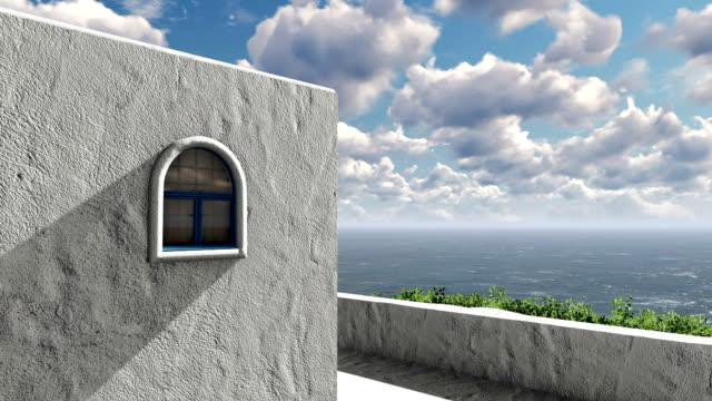 Balcony view of mediterranean sea video
