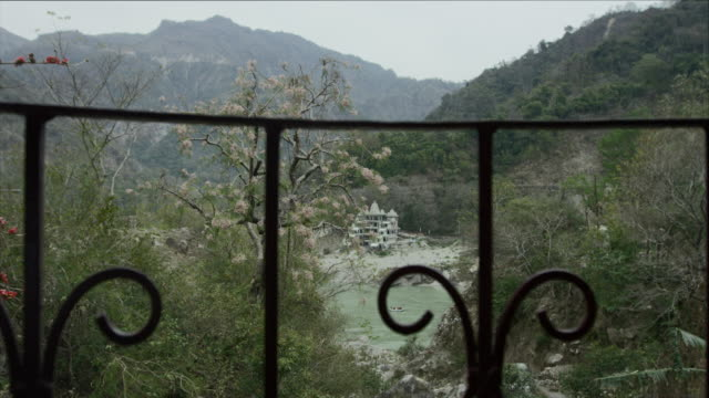 Balcony view over Ganges. video