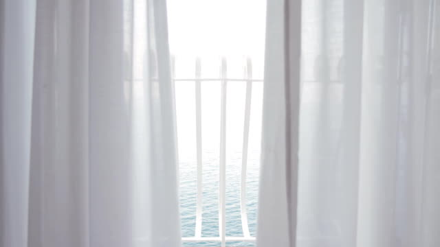 HD DOLLY: Balcony With View Of The Sea video