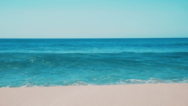 Balearic Island Formentera Teal Blue Sea Waves