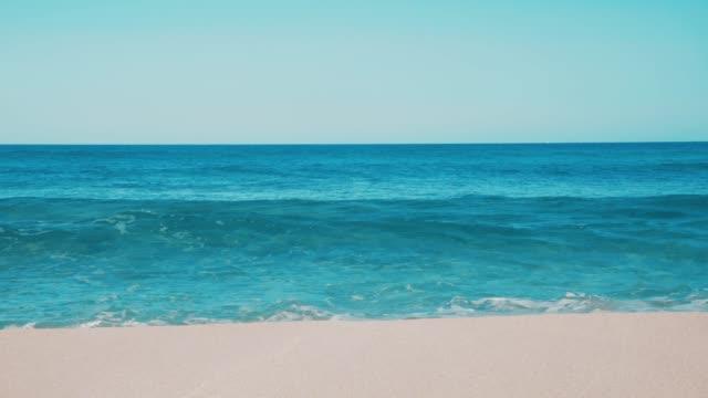 balearic island formentera teal blue sea waves - krajobraz morski filmów i materiałów b-roll