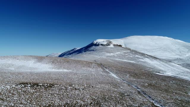 발칸 산맥 겨울 공중 보기에 - 세르비아 스톡 비디오 및 b-롤 화면
