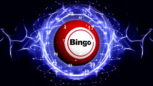 Fondo bolas BINGO, representación, Fondo, de bucle - vídeo