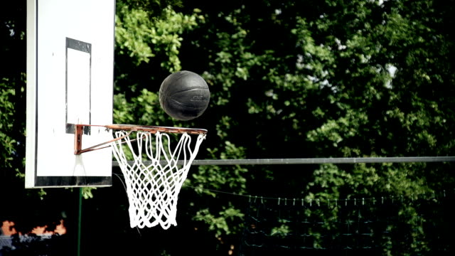 HD SUPER SLOW-MO: Ball Going Through A Net video