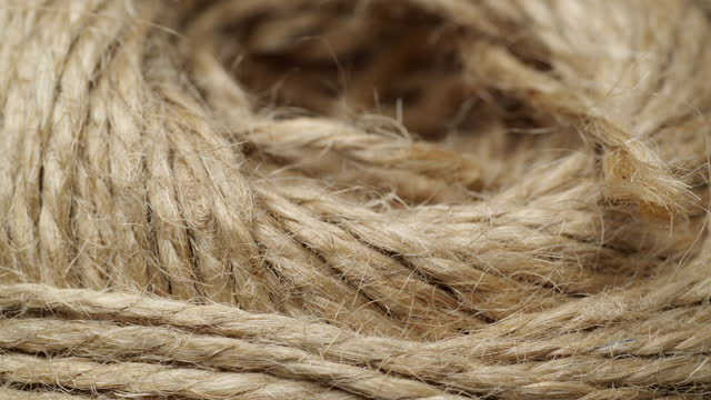 Ball jute burlap rustic of rope.