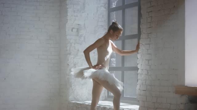 バレエ ダンサーのトレーニングの準備 - フィルタ化点の映像素材/bロール