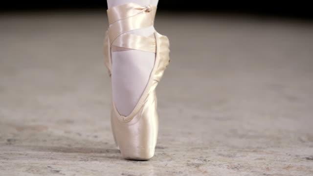 danza classica - dito del piede video stock e b–roll