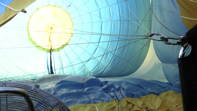 Balloon festival and crews operation and prepared balloon.Balloon on blue sky.Balloon in the sky. video