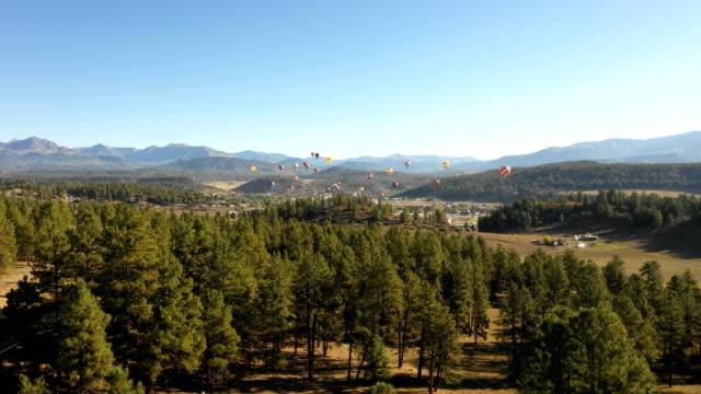 Balloon Festival Over Distant Town in Colorado video