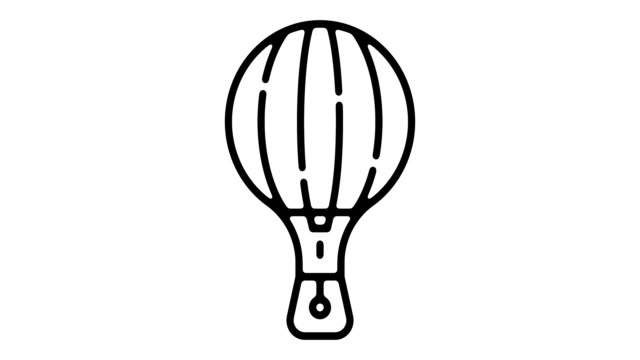 Balloon Line Motion Graphic video