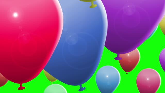 balon geçişi. alfa tabakası dahil. - balon stok videoları ve detay görüntü çekimi