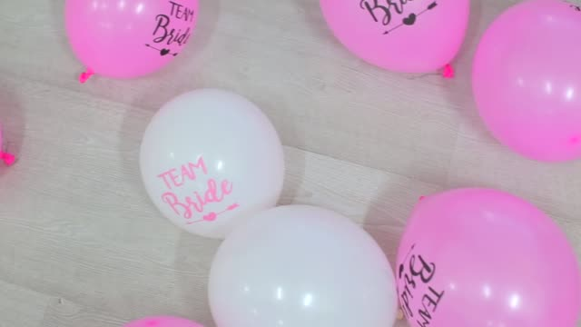 balloons are in a chaotic manner - bachelor party stock videos and b-roll footage