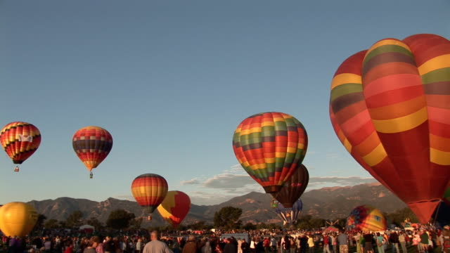 Balloons ascending video
