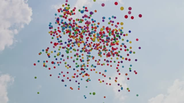 Balloons flying into the sky