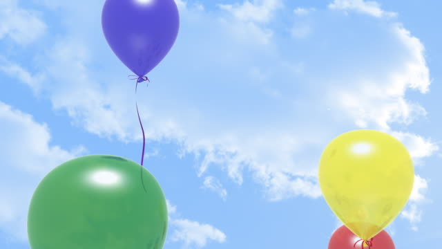 HD Balloons in the Sky video