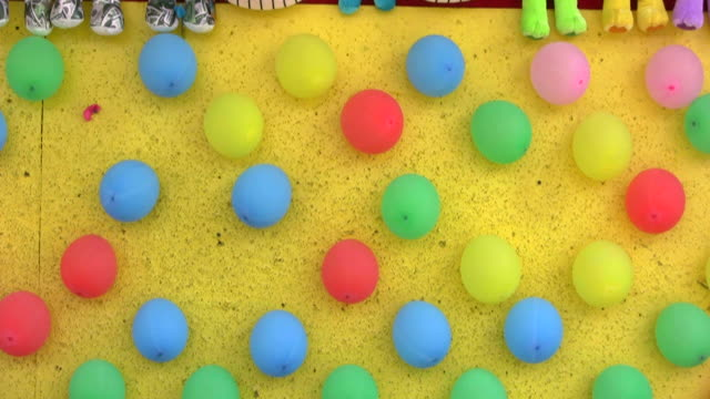 Balloons On A Dartboard video