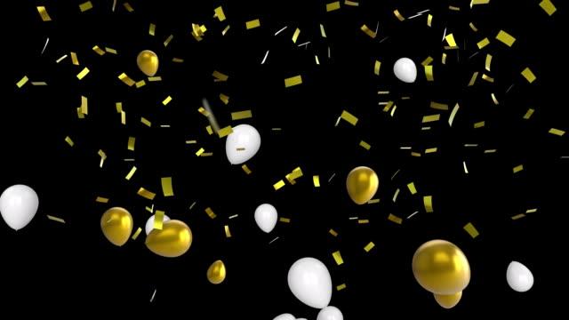 siyah arka plan daki balonlar - balon stok videoları ve detay görüntü çekimi