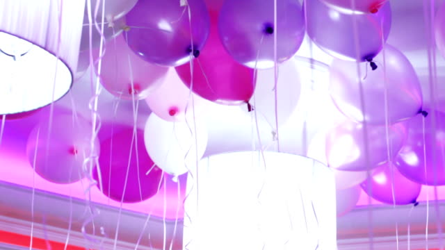 Balloons on the ceiling video