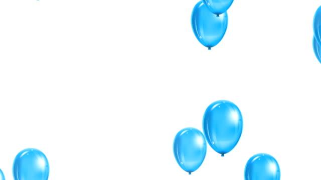 ballonger part. roliga symboliska objekt. färgglada ballonger bakgrund. - inflatable ring bildbanksvideor och videomaterial från bakom kulisserna