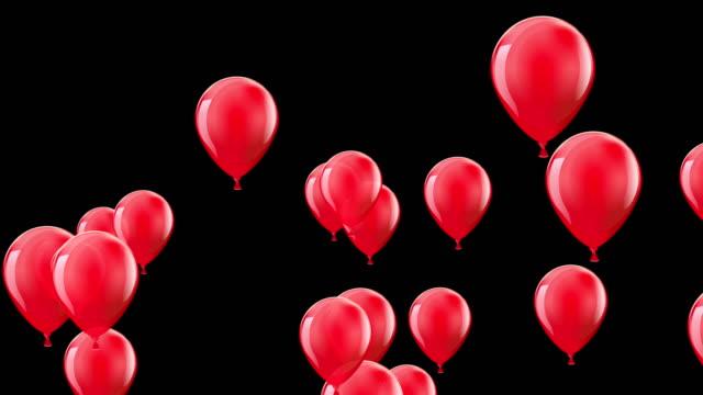 balon partisi. komik sembolik nesneler. renkli balonlar arka plan. döngü - balon stok videoları ve detay görüntü çekimi