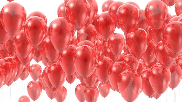 3D balloons transition with alpha mask video