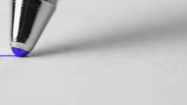 vídeos de stock e filmes b-roll de ballpoint pen close up. - caneta