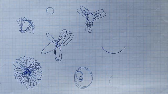 ballpoint pen rosette shapes drawing on paper hd, sd - mandala bildbanksvideor och videomaterial från bakom kulisserna