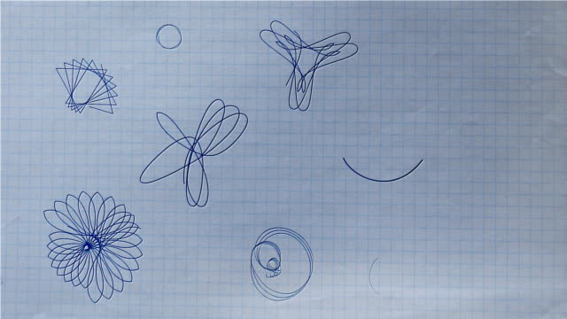 stockvideo's en b-roll-footage met ballpoint pen rosette shapes drawing on paper hd, sd - mandala