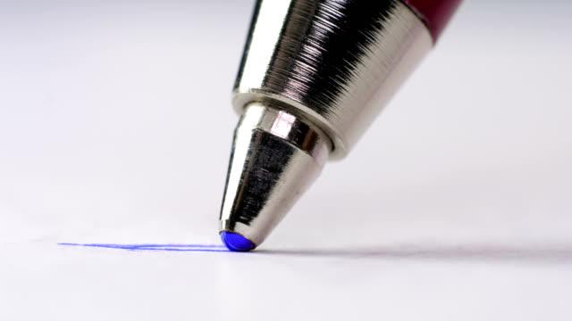 Ballpoint pen. Ballpoint pen. Macro shooting. extreme close up stock videos & royalty-free footage