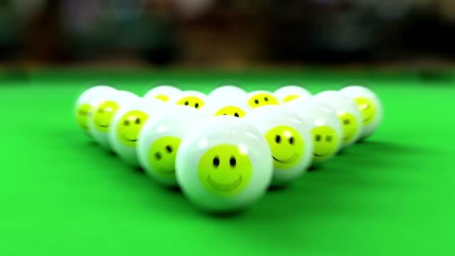 Balls breaking on pool table video