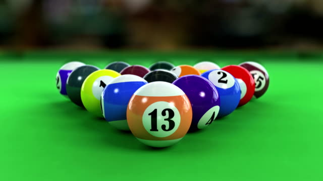 Balls breaking on pool table video