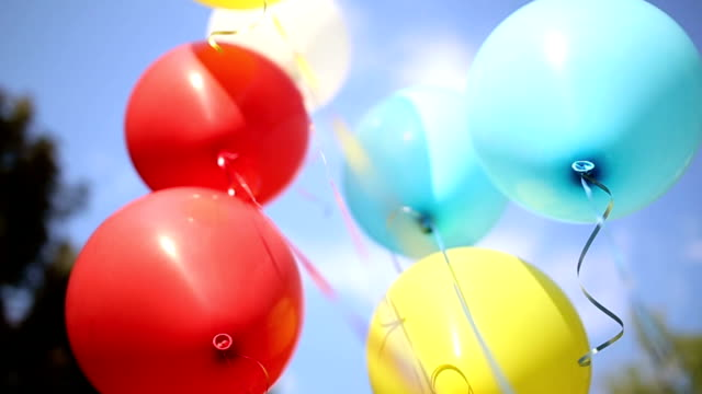 Baloons outdoors video