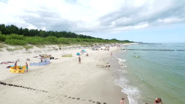 Baltic Beach on Hel Peninsula video