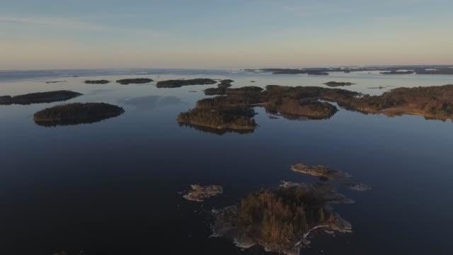 baltic sea archipelago spring - arcipelago video stock e b–roll
