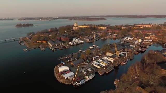 östersjö skärgården sveaborg - drone helsinki bildbanksvideor och videomaterial från bakom kulisserna