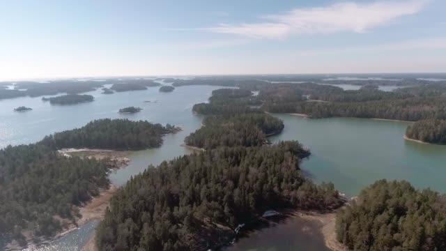 baltic sea archipelago - arcipelago video stock e b–roll