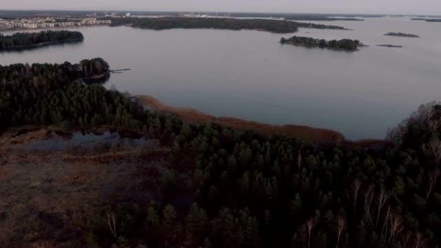 östersjöns skärgård med våtmark - drone helsinki bildbanksvideor och videomaterial från bakom kulisserna