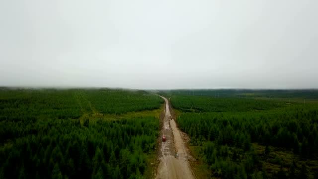 vídeos de stock e filmes b-roll de bam road to magadan in siberia. road of bones. - irkutsk