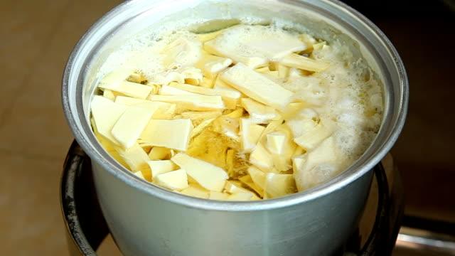 Bamboo Shoot soup, thai food video