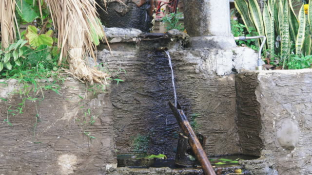 Bamboo Water Drip System in a Rice Farm