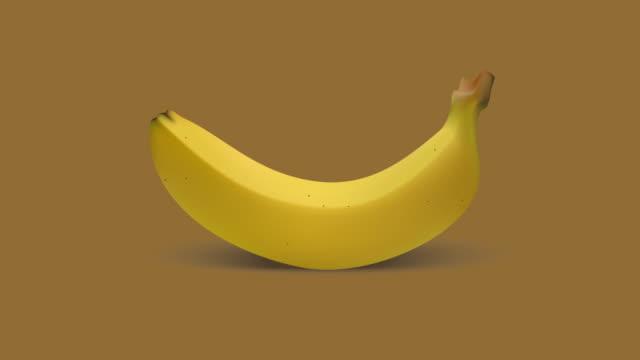 バナナ落ちるアニメーション - バナナ点の映像素材/bロール