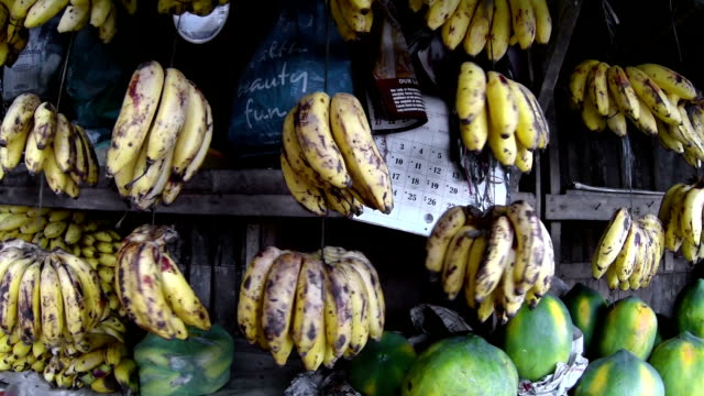 Bananas at food market video