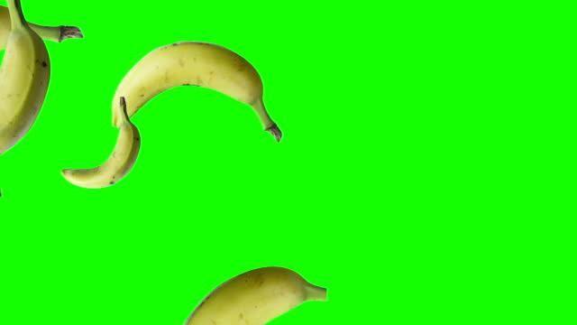 香蕉從左向右落下 - 香蕉 個影片檔及 b 捲影像